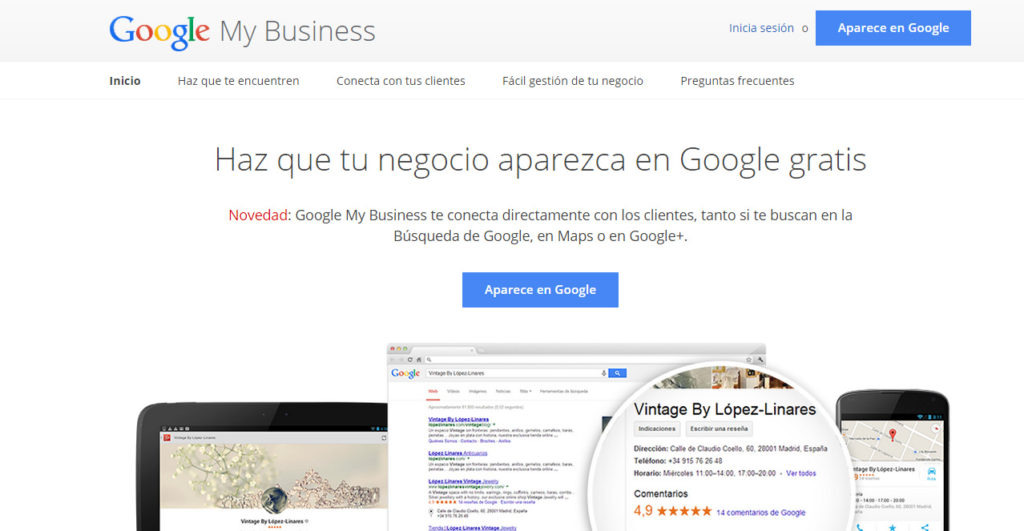 posicionar tu negocio local en Google